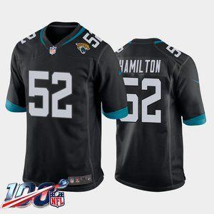 Jacksonville Jaguars DaVon Hamilton Black Jersey